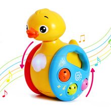 Kids Musical Sliding Duck Toys Action with Colorful Flashing Lights Activity for Baby 3 Months Toys Wishtime