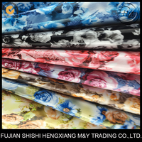 Printed Rose Pattern Soft PVC Synthetic Leather Fabric For Handbags,Packing Case
