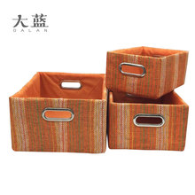 Eco-friendly handmade gift paper basket with metal handle