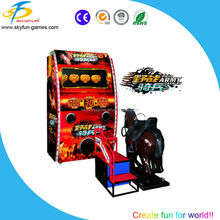 Field army cavalry horse riding simulator gun shooting game machine