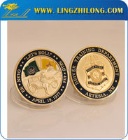 China made gold plated tungsten antique gold coins
