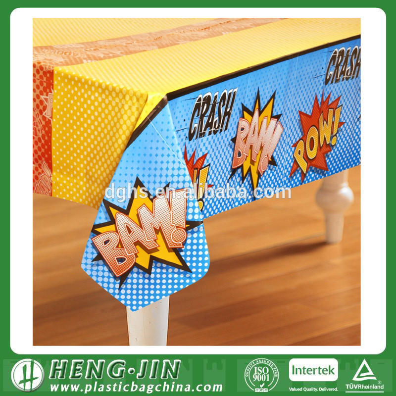 household patterned plastic tablecover