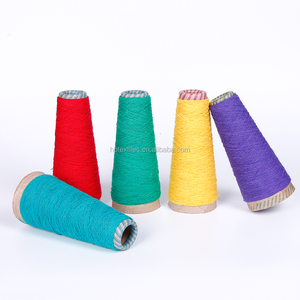 Leading regenerated recycled blended open end manufacture cotton and polyester yarn for weaving and knitting