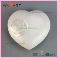 Lovely White Heart Ceramic Marriage Decoration