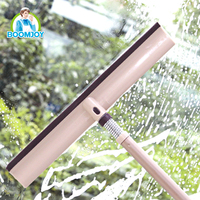360 flexible spring connector telescopic handle window squeegee