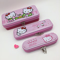 Wholesale Metal Tin Pencil Box With Zipper 3 in 1 Set