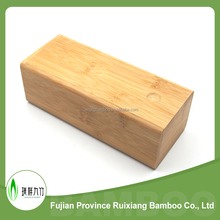 bamboo Material square shape natural Color Bamboo Eyewear case, bamboo sunglass case