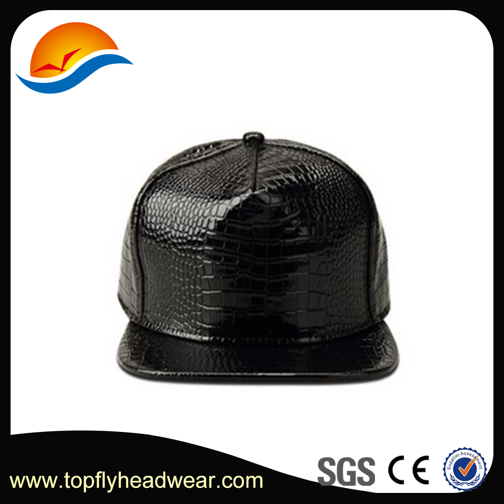 Latest Design Fashion Jordan Crocodile Leather Snapback Cap With Short Brim