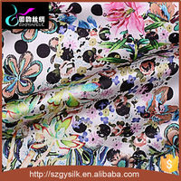 digital silk chiffon floral printed fabric with custom design