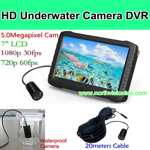 1080P 20 meters wire underwater shockproof camera for diving