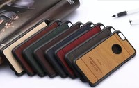 Wooden PU Leather for iphone 6/6 Plus/5S/4S Hybrid Luxury Leather Cover PC Case