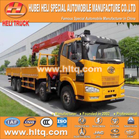 FAW 8X4 16 tons straight arm truck mounted crane
