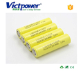 3.6V cylindrical rechargeable lithium ion battery 2500mah for LG Chem 18650HE4