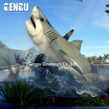 Animatronic Theme Park Simulation Robot Shark
