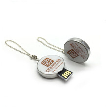 Dr.memory Wholesale cheapest metal round USB Flash Drive 64GB 32GB 16GB Pendrive Portable Storage with