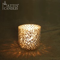 Distinctive Style Matti's Glass Tea Cup Candle Holder/Christmas Candle Holder/Religious Candle Holder