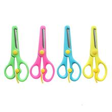 Beautiful plastic craft scissor for child kids scissors safety scissors