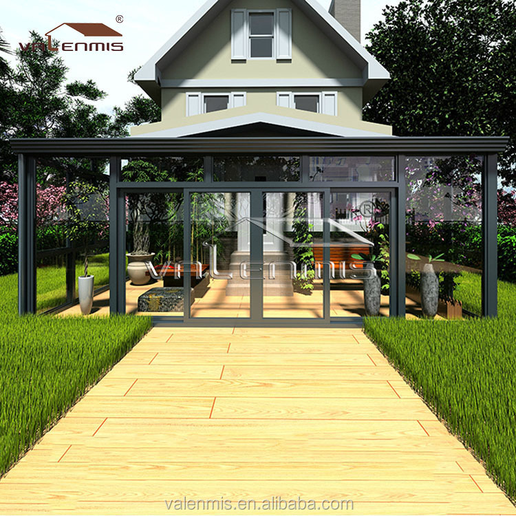 2015 newest commercial glass houses/glass house,garden sun rooms