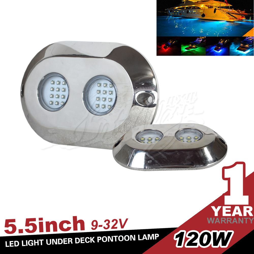 IP68 Waterproof 12V 120W Underwater LED Light for Boat, Yacht , Marine and Navigation