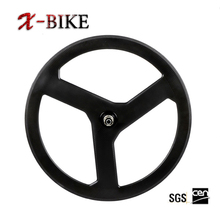 XBIKE stiffness fixed gear T1000 aero 700c lightweight 3 spoke tubular wheel,3-spoke carbon wheels