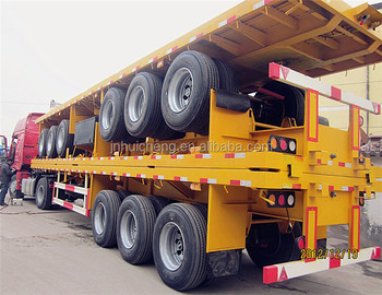 Famous factory manufacturer sale 20ft and 40ft road container chassis type faltbed semi trailer