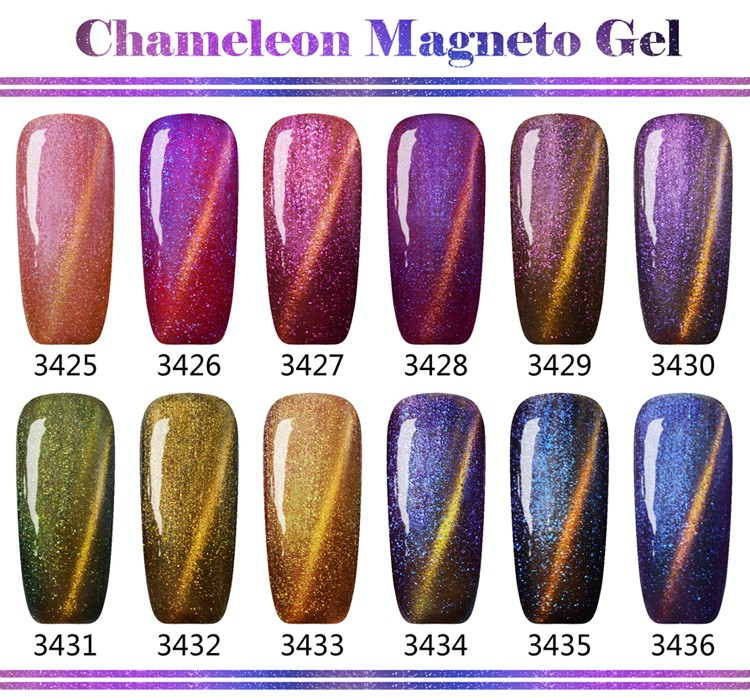 L&M Long Lasting Chameleon Cat Eye Color UV Gel Nail Polish
