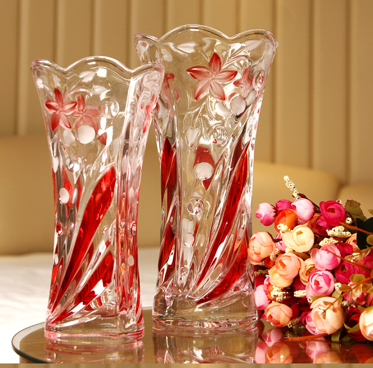 2016 Wholesale Beautiful Colorful Glass Flower Vase For ...