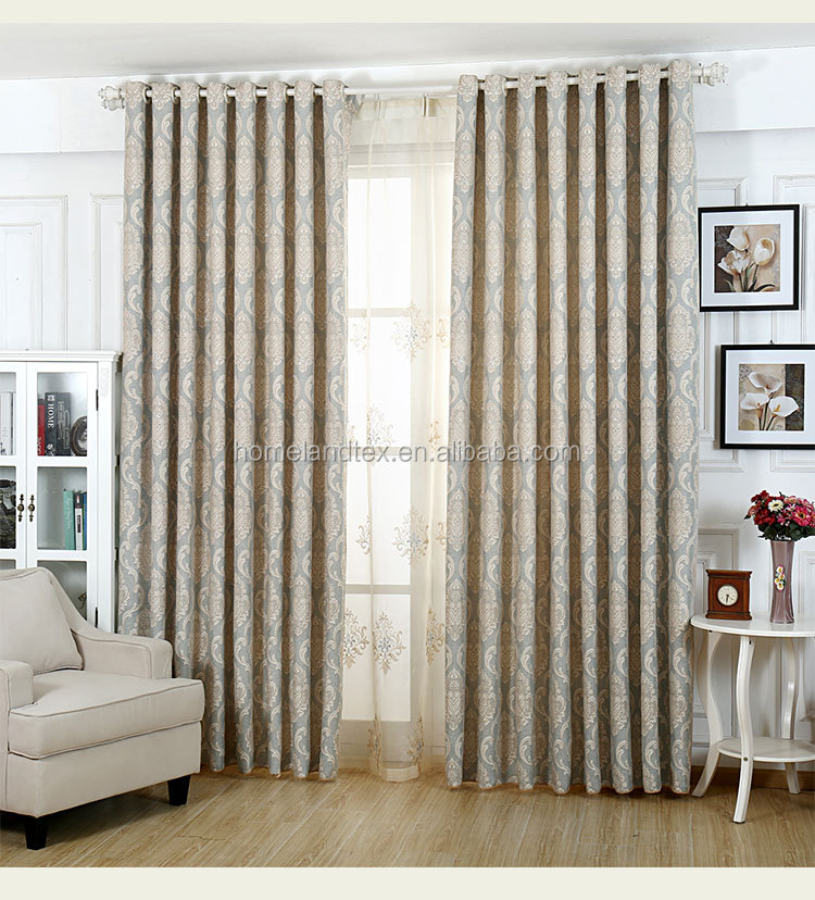 Modern Classic Home Used Curtains 4 Pass Blackout Jacquard