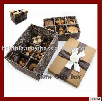 High Quality promotional item 3d wooden puzzle with gift box