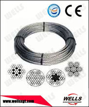 factory supply zinc coated steel wire cable 2mm