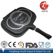 Die-casting dessini non-stick double frying pan