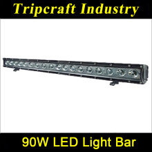 Promotion 90W LED WORKING LIGHT Single Row LED Work Light 4WD LED Light Bar SUV AUT ATVs Accessories