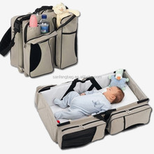 2016 Hot Products 3-in-1 Baby Portable Crib Bag ,Bassinet & Diaper Bag carry cot