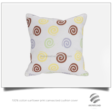 100% cotton sunflower print canvas bed cushion cover