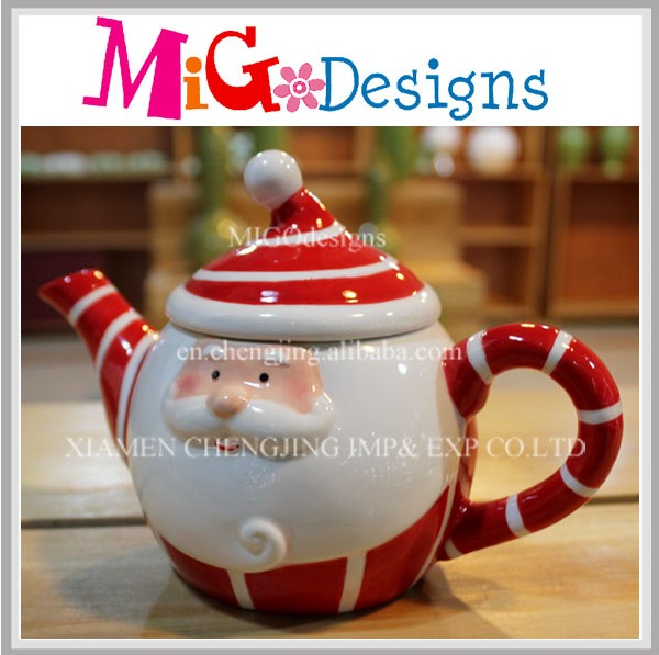Santa Clause Shaped Teaport Wholesale Christmas Ceramic