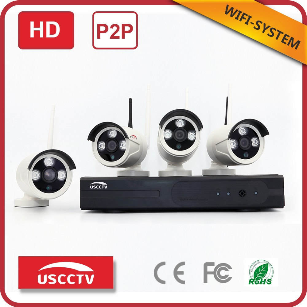 USC complete wireless home surveillance systems full cctv system wireless outdoor security system