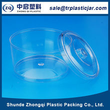 Promotional price 110ml round PS plastic box,110ml round plastic peanut container with lid