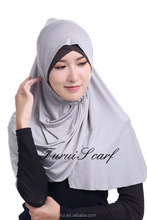 Factory Sale New Muslim Caps Amira Hijab With Diamond Shinny Scarf Sequins Under Scarf Pure Color Free Size