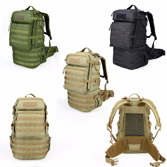 59L High quality 2016 Men Women Outdoor Military Army Tactical Backpack Camping Hiking Trekking Camouflage Bag Travel Backpack