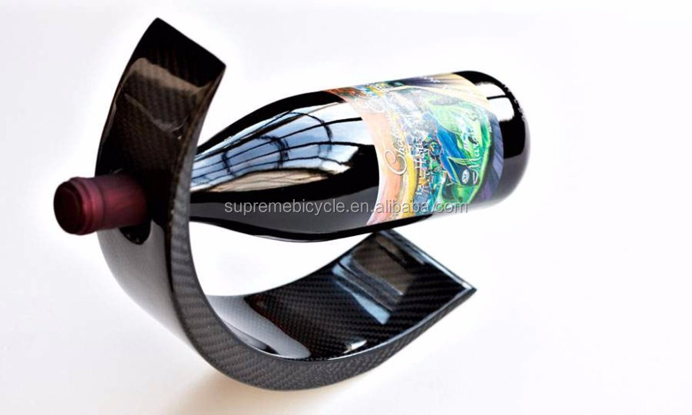 OEM Customized Carbon Fiber Matt/Glossy Wine Bottle Holder