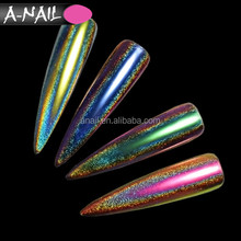 Lastest Products ! 12 Colors Chameleon Holographic Nail Art Pigment Dust 0.2 G Peacock Mirror Laser Nail Glitter Powder