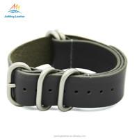 Strong Heavy Duty 5 Rings Zulu Leather Watch Band