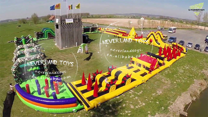 Crazy game inflatable 5k obstacle course,adult inflatable obstacle course for sale