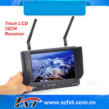 Never blue screen 7inch 5.8GHz 32ch dual receiver diversity LCD monitor for hexapod, FatShark compatible