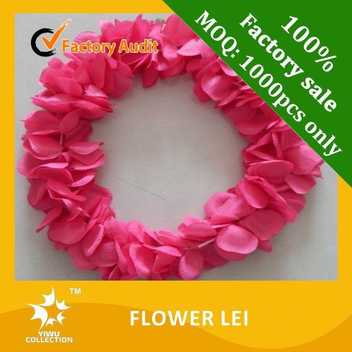 Plastic hawaiian flower lei garland