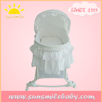 China wholesale white baby bassinet with rocker comfortable baby bed swinging