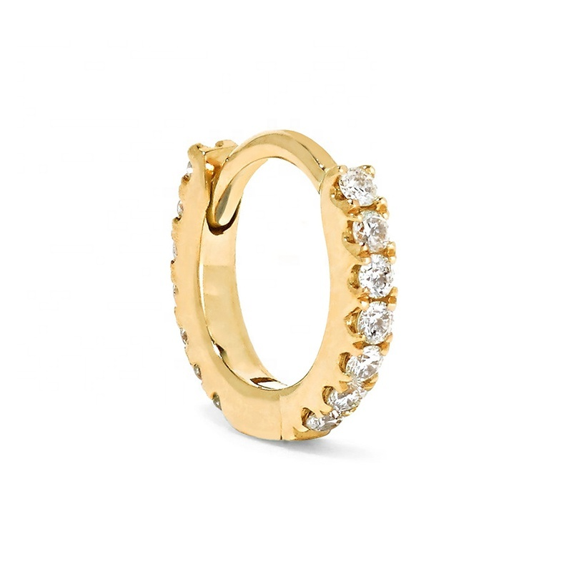 Gemnice dainty jewelry wholesale <strong>14</strong> karat gold small hoop huggies earrings