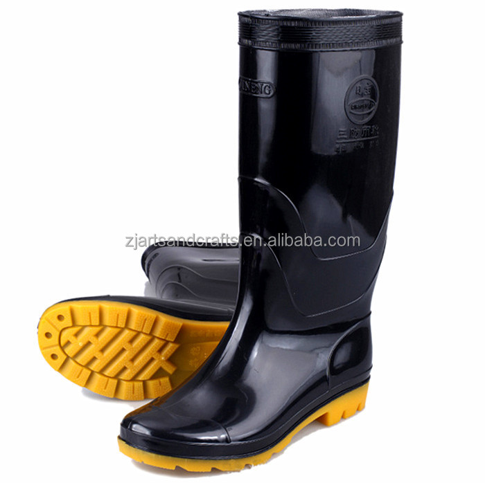 Acid-resistant cheap black workman safety shoes