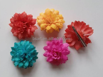 Fashion fabric flower hair clips