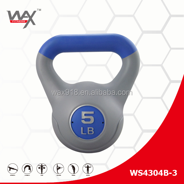 Custom Logo Made Exercise Crossfit Competition Kettlebell 5lb Painted Kettle bell